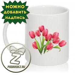 Кружка 8 марта - тюльпаны на 8 марта (3)