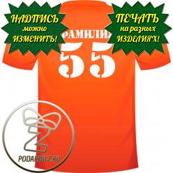 Номер / фамилия на футболке и одежде (макет №1)