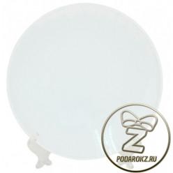 Тарелка керамическая 20 см - с возможностью полной запечатки [ЦЕНА С ПЕЧАТЬЮ]